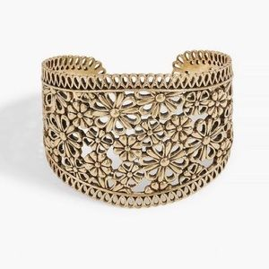 NWT Lucky Brand Gold Lace Openwork Cuff